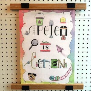 Poster Spelen is Leren